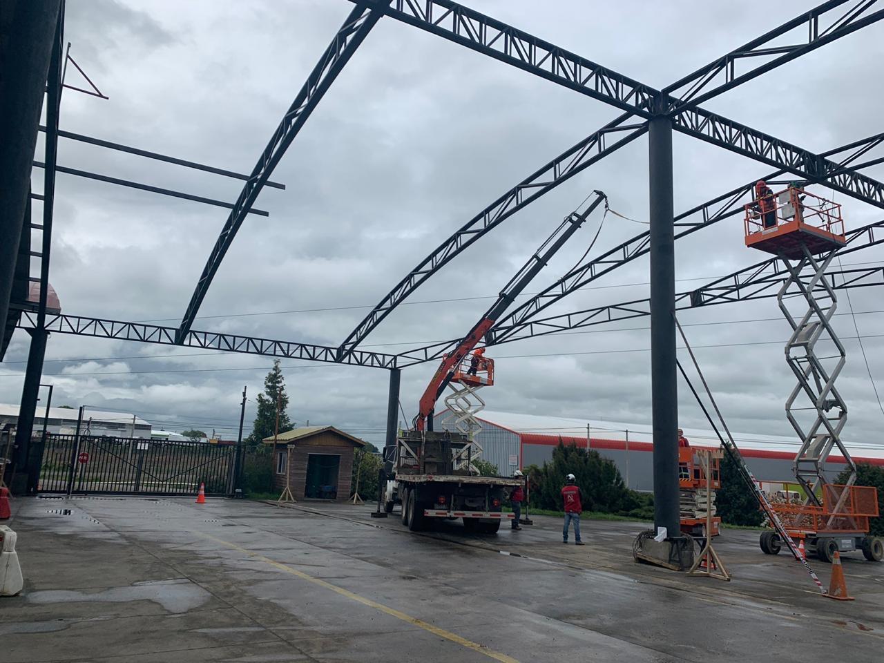 Avifel realiza la segunda etapa de techado de Planta de Prefabricados