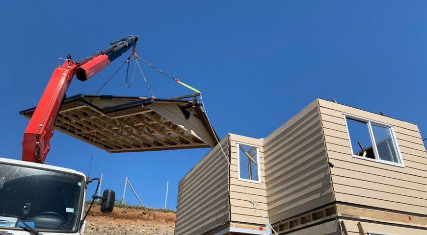 Nuevo sistema de izaje de techo se ejecutó en Frutillar