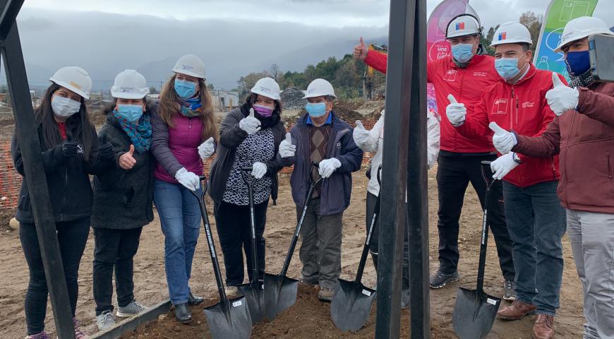 Autoridades instalan primera piedra en Vista del Ranco